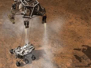 Curiosity Landing - Sky Crane Stage