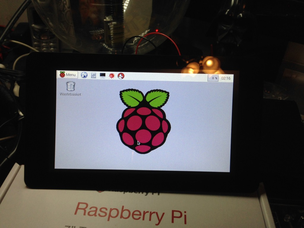 Raspbian GUI up and running.